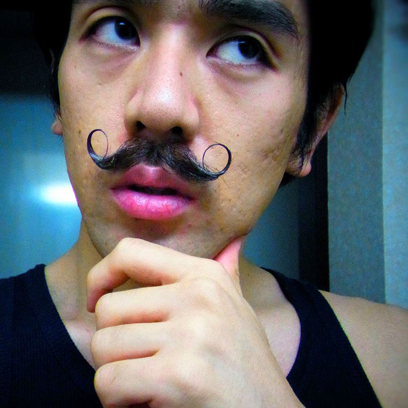 man with mustache style