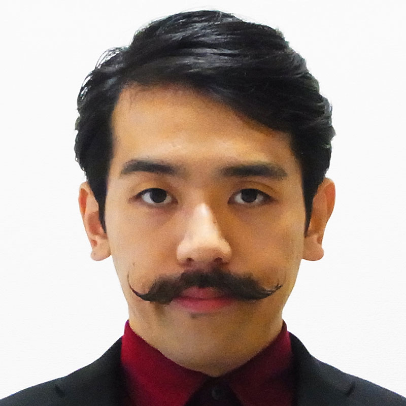 asian man with mustache