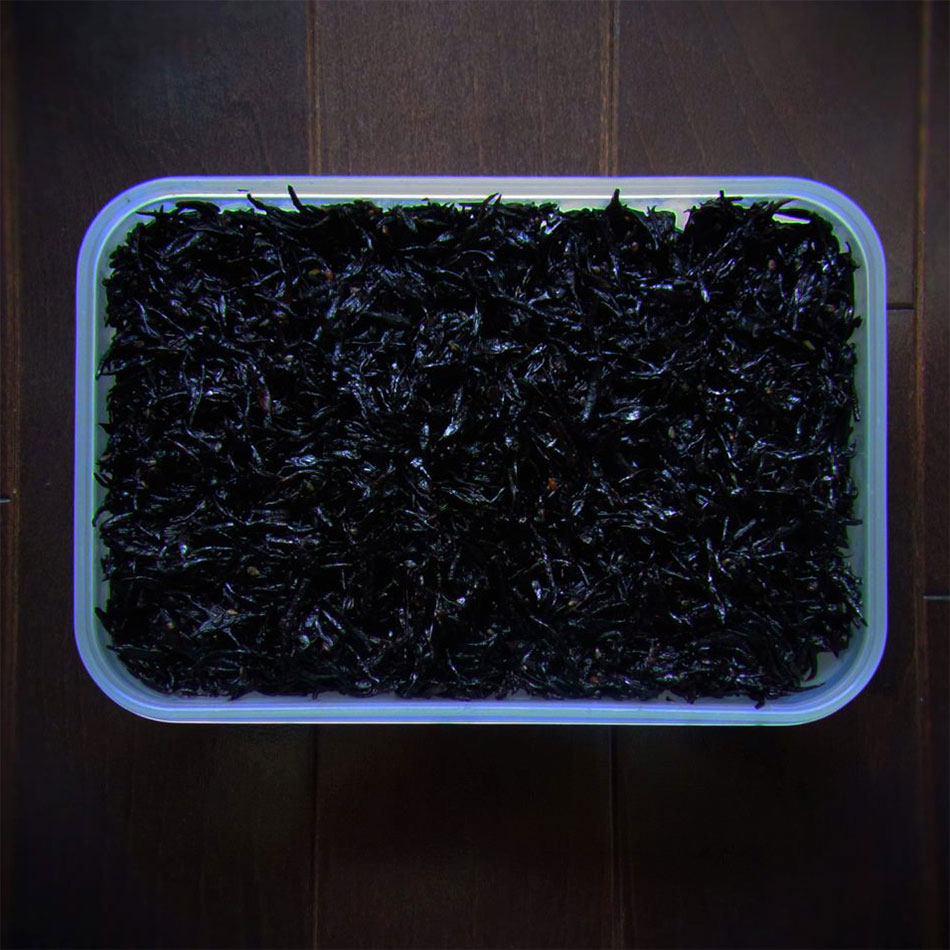 hijiki seaweed and black sesame bento art