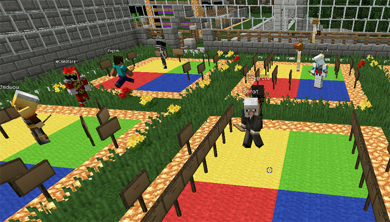 kotaba miners complete japanese language assignment in minecraft