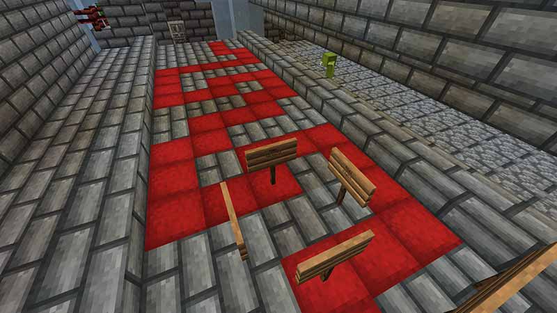ice palace room with red brick path level in kotaba miners