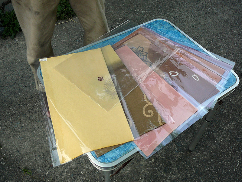 japanese tenugui packaged cloth in plastic