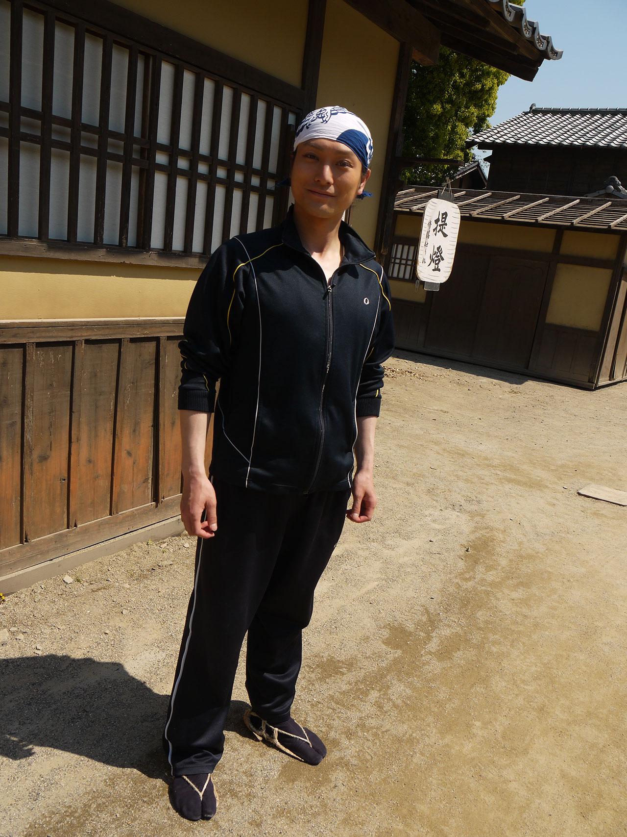 Takahiro Hotta before filming