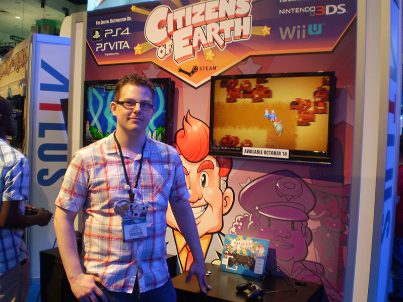 Ryan Vandendyck at the Citizens of Earth E3 booth