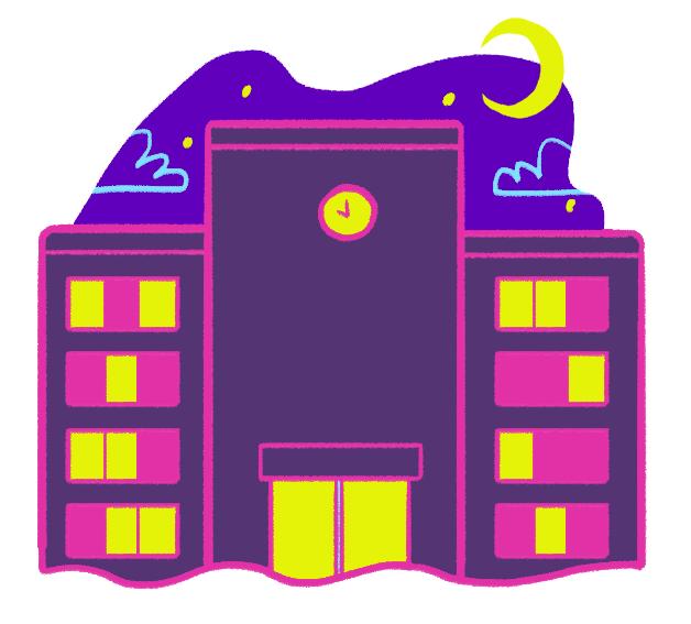 night school illustration