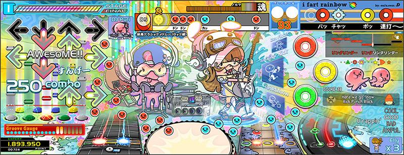 cartoon of japanese video games guitar hero kinda