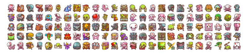 icons emojis monsters by enfu ken taya