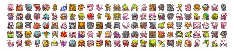icons emojis monsters by enfu ken taya