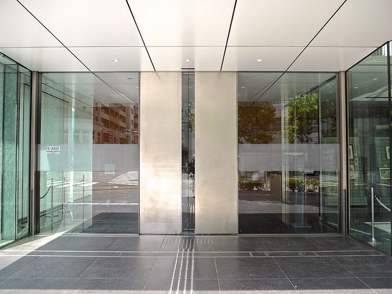 doorway of the shueisha building