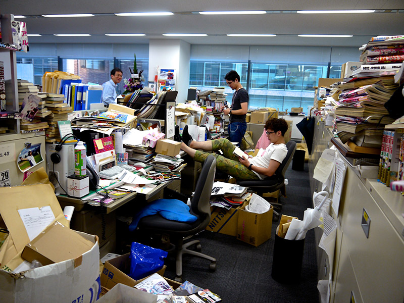 the editing room at shueisha