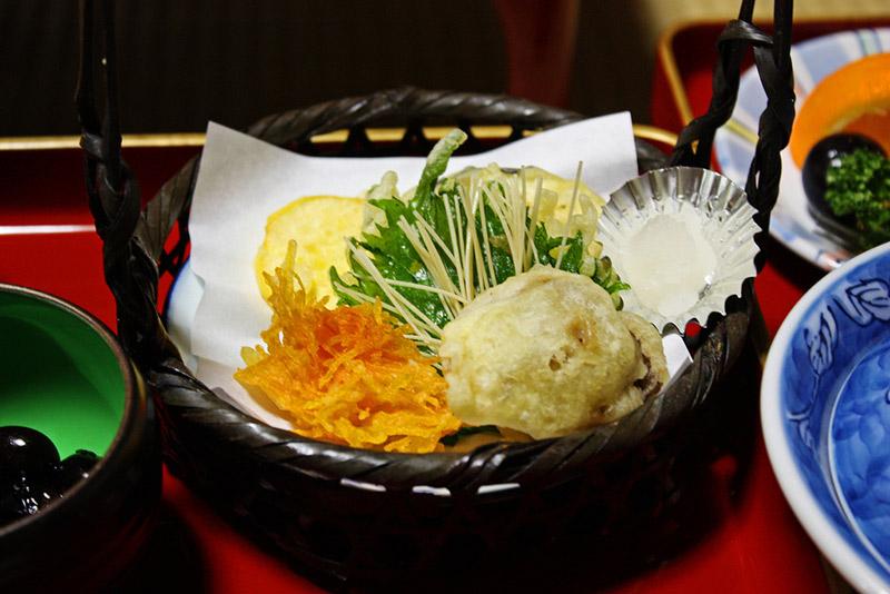 A monks vegetarian meal