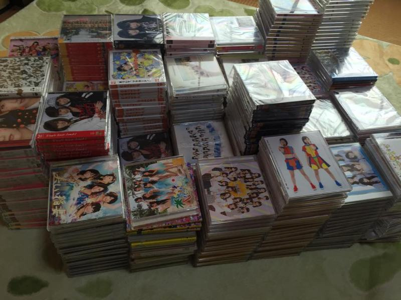 large collection of japanese idol cds