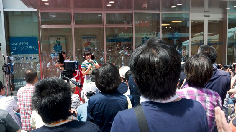 Japanese idol otaku at outdoor concert
