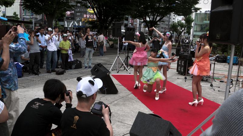 Japanese idol otaku at performance