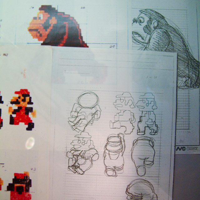 sketches from 1981 donkey kong development