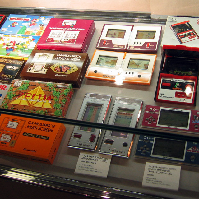 game and watch on display at nintendo museum