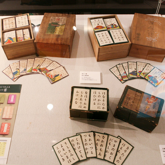 meiji era nintendo cards in wooden box