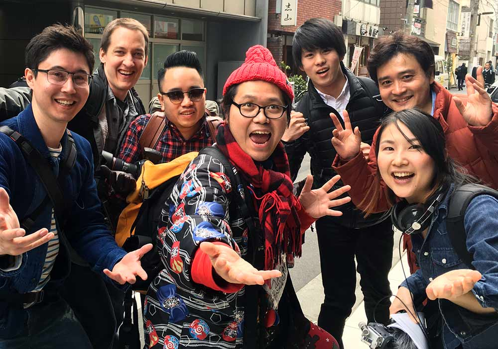 Group photo with Homeless Kotani
