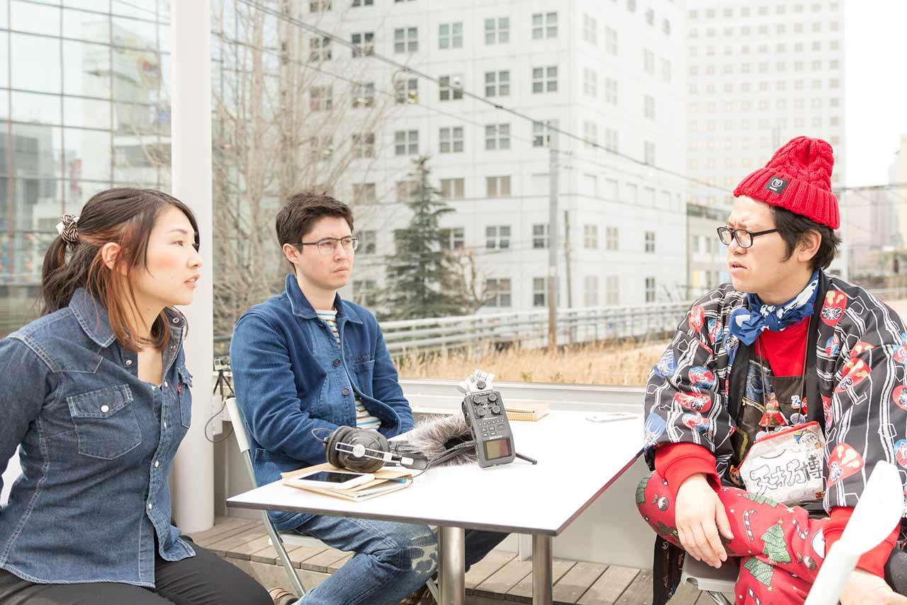 Homeless Kotani, Mami, and Koichi talking
