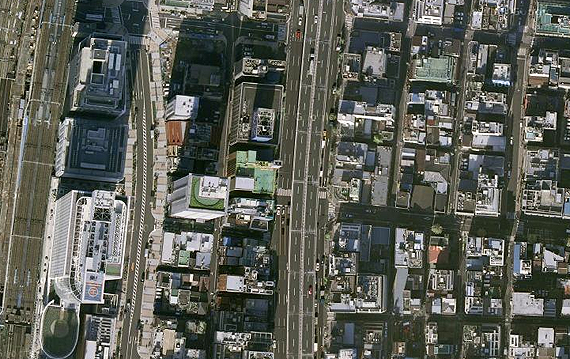 google earth photo from above Japan