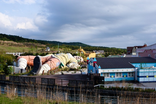 Rundown attraction at the abandoned Japanese amusement park Gulliver's Kingdom