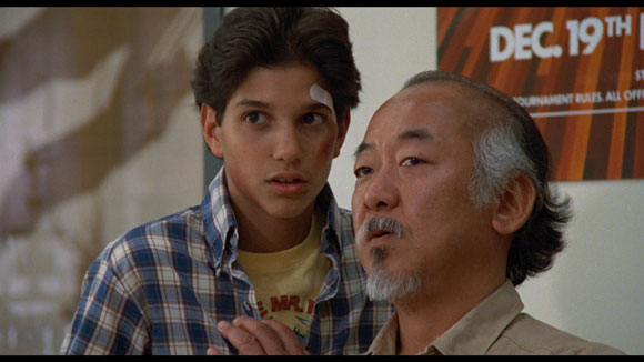 Mr. Miyagi speaking to Daniel from the Karate Kid