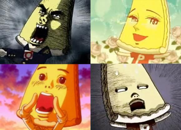 Pizza-La-kun facial expressions