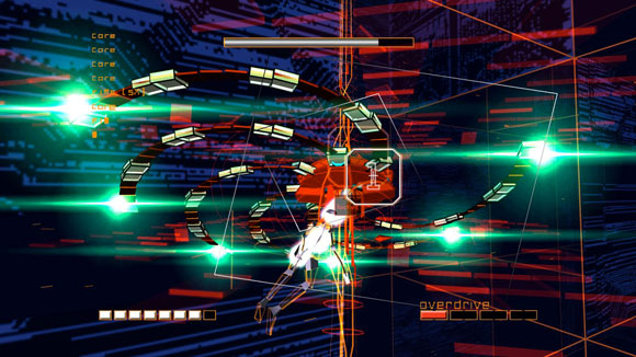 Screenshot from the PS2 game Rez