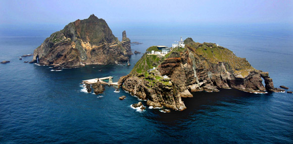 a photo of the dokdo islands