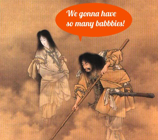 Izanami and Izanagi discuss babies
