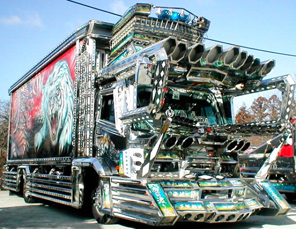 heavily modified tricked out truck