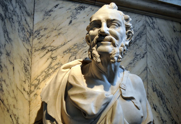 bust of Greek philosopher Democritus
