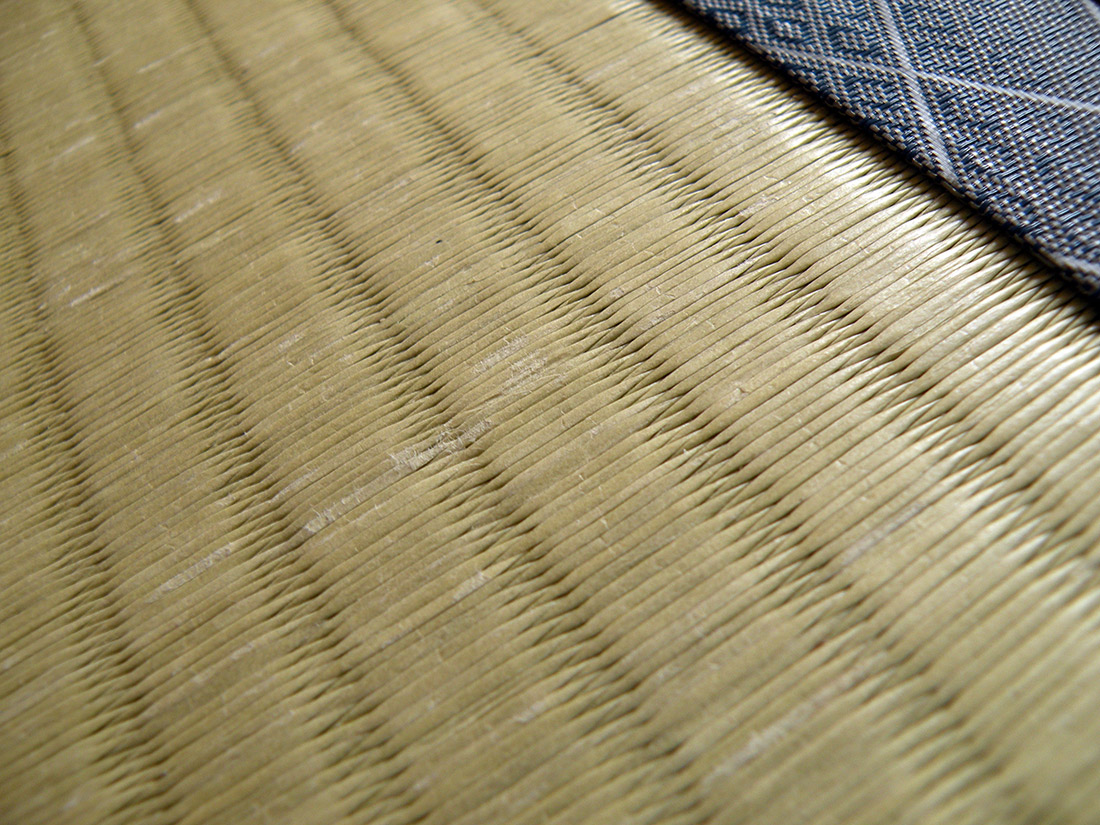cloth borders of a tatami mat which are bad luck in japan