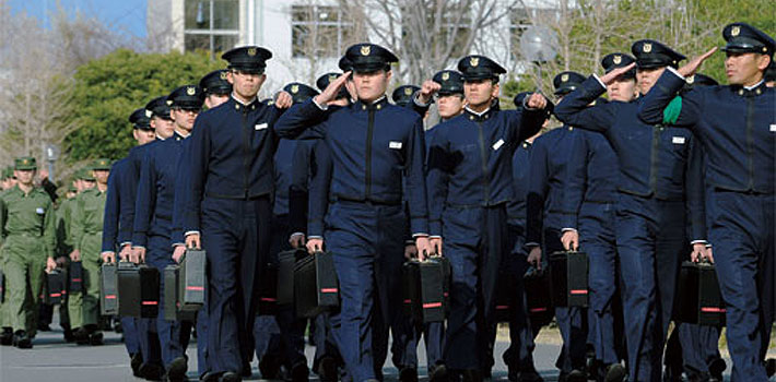 Botaoshi cadets at the National Defense Academy of Japan