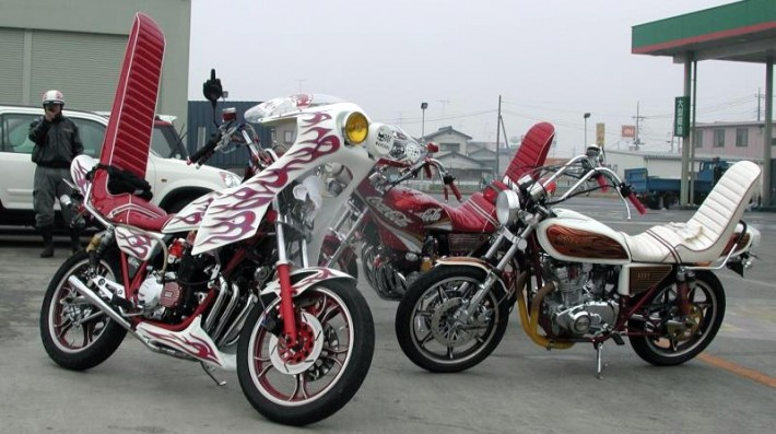 motorcycles used by Japanese biker gang