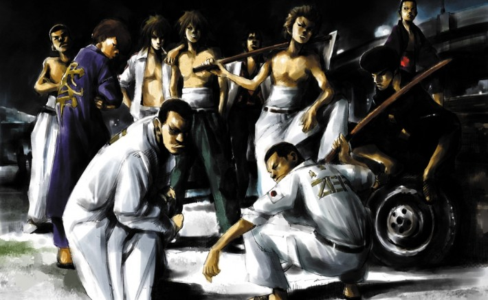 illustration of bosozoku members