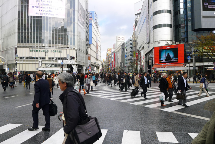 visiting shibuya crossing in japan