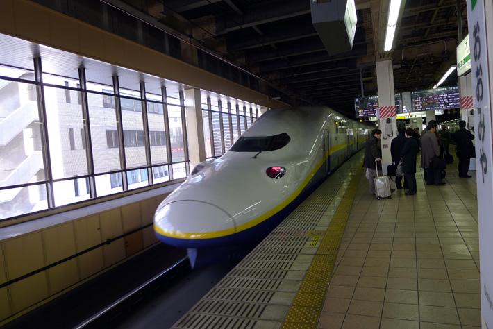 a bullet train in japan