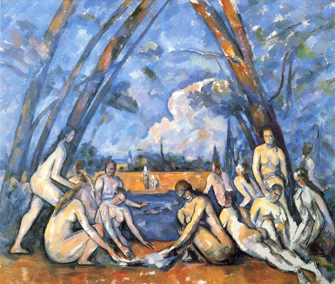 A Cezanne painting which was bid for with janken