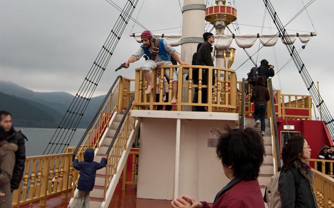 pirate ship tourists