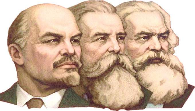 Lenin, Marx, and Engels