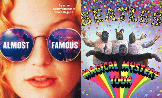 Poster of Almost Famous beside poster of Magical Mystery Tour