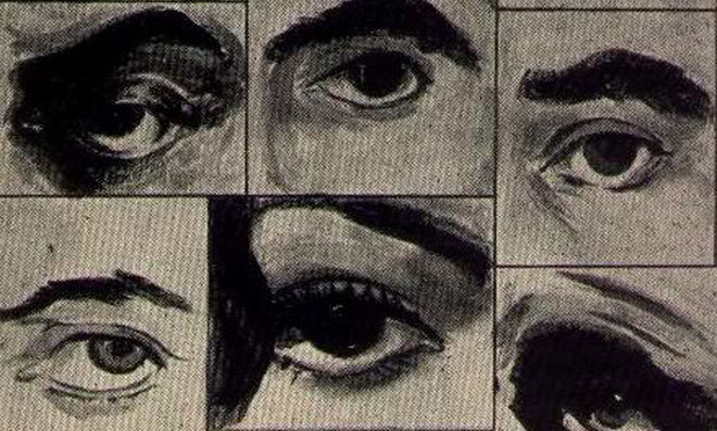 Various sketches of eyes