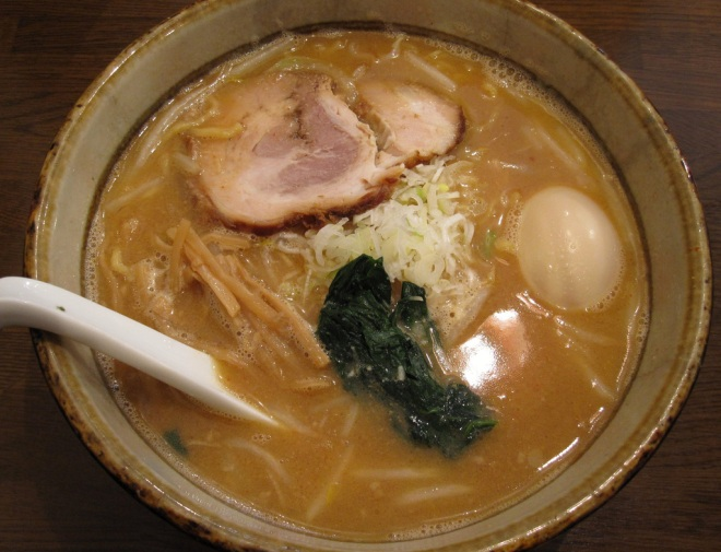 A bowl of Miso ramen