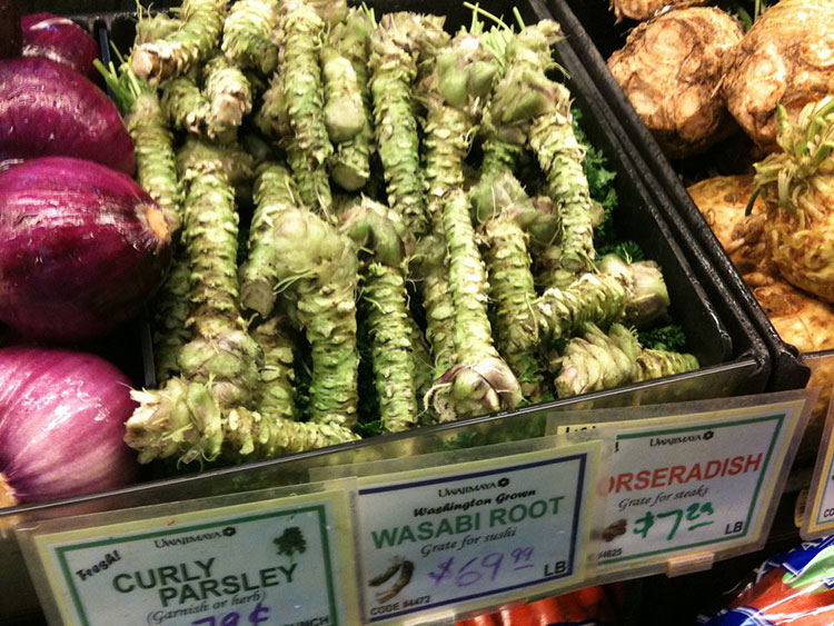 Real Wasabi in a grocery store