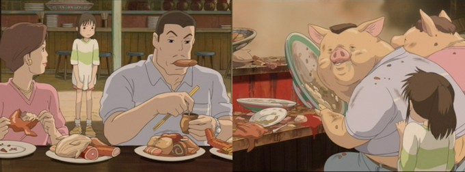 pig transformation in Spirited Away