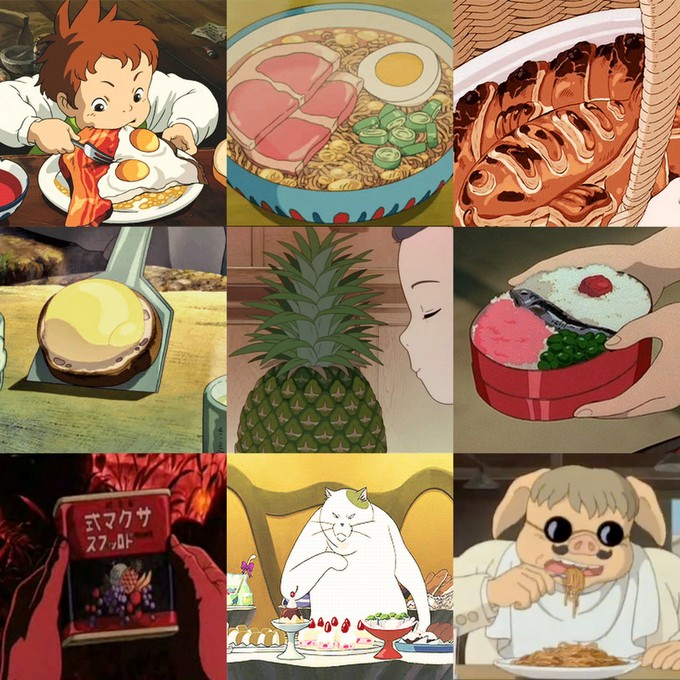 various studio ghibli foods