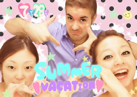 purikura of man with two women