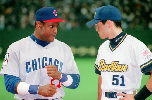 ichiro suzuki and sammy sosa talking