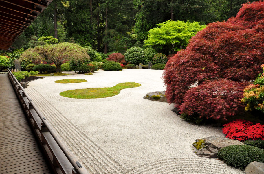 Japanese architecture what makes it different for Japanese landscape architecture